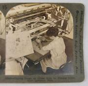 Stereoview Keystone View Co 22082 Copying Design Copper Rolls Lawrence Mass O