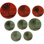 1968 Keeling Cocos Islands Collection Of Green And Red Plastic Tokens