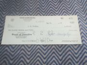 1963 Carroll Shelby American Payroll Check To J.w. Findlay 170.07 Number 411