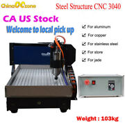 Cnc 3040 3axis Engraving Cutting Machine Mach3 Usb Steel Structure Diy Router Us