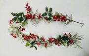 Natural Christmas Garland Berries Leaves Xmas Party Home Gifts Tree Decorations