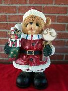 Large Ceramic Santa Claus Teddy Bears Large Figures 16andrdquo Hand Painted
