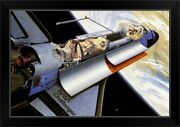 Challenger Space Shuttle Black Framed Wall Art Print Outer Space Home Decor