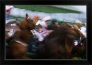 Horses Breaking From The Stalls At A Black Framed Wall Art Print Horse Racing