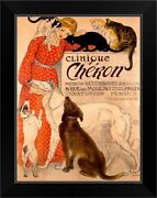 Clinique Cheron Veterinaire Theophile Black Framed Wall Art Print Cat Home