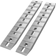 Vevor 60and039and039x12and039and039 Aluminum Ramps 6500lbs Car Trailer Truck 1 Pair Ramps Hook End