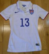 Nike Alex Morgan 2014 Usa Us Soccer Uswnt Home National Jersey Kit Womanand039s Xs