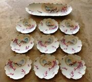 Very Large Limoges Fish Platter And 9 Matching Plates 9 Roundcirca 1840 Stamped