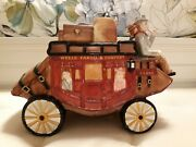 2002 Wells Fargo And Company Bank - Stage Coach, Ceramic Cookie Jar,vintage