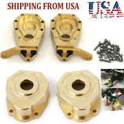 Heavy Brass Front Steering Knuckle Portal Hub Cover For Rc Traxxas Trx-4 Car Us