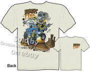Ratfink T Shirt Willys Jeep Tee Ed Big Daddy Roth Apparel Rock Fink Clothing