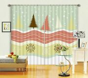 3d Snowflake Color Tree A33 Christmas Blockout Photo Curtain Fabric Window Zoe