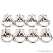 8 - 316 Stainless Steel Square Eye Plates Ring 1/4 Marine 316 Rigging Boat 6mm