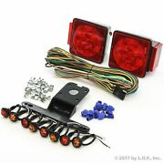 Submersible Square Led Light Kit Under 80 Boat Trailer And 4 Red 4 Amber Marker