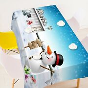 3d Snowman Gift A08 Christmas Tablecloth Table Cover Cloth Birthday Party Zoe