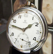 Antique Vintage Omega Ww2 1943/44 British Military Army Watch Working And Lovely
