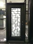 Beautiful Estate Heavy Good R Rated Iron Entry Door With Safety Glass - S36