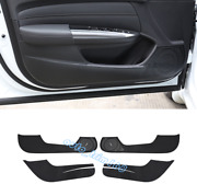 Carbon Fiber Leather Door Anti Kick Pad Protective Trim For Acura Tlx 2015-2019