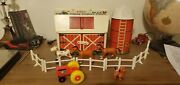 Vintage Fisher Price Little People Play Family Farm Barn/silo/animals/fence