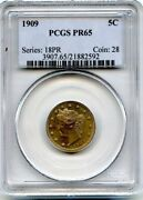 C4229- 1909 Proof Liberty And039vand039 Nickel Pcgs Pr65 - 4763 Minted