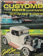 Customs Rods Illustrated Mag Chevy's New Carburetion June 1965 102119nonr