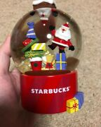Starbucks Japan Coffee 2019 Snow Globe Dome Holiday Limited F/s Rare New Red Cup