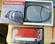 Lot Of 3 Transformers Licence Frame And H.d. Clip On Towing Mirror Set
