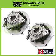 Front Wheel Bearing And Hubs For 2009 2010 2011 Dodge Ram 1500 W/ Abs 5 Lug 515126