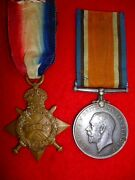 Officer's Medals Ww1 Star And War Medal To South African Engineer Corps, Sawyer