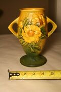 Roseville Pottery Yellow Peony Vase 61 7 Tall  Yellow And Green Colors