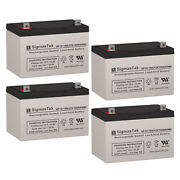 4pc 12v 100ah Sealed Lead Acid Agm Battery Group 27 For Golf Carts, Lawn Tools