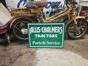 Big 2 Sided Allis Chalmers Parts Service Tractor Sign Farm Seed Feed Barn Oil