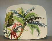 New Organic Square Plate Large , Jardins Extraordinaires Pattern Gien