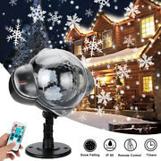 Christmas Projector Lights Outdoor Led Snowflake Christmas Lights With Remote