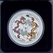 Dragons Of Legend Special Year Of Dragon 5 Oz Silver Proof Coin Box/coa Free S/h
