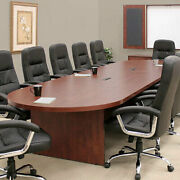 Large Conference Table Cherry Mahogany Or Ash Gray With Power And Data Modules