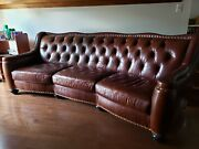 Leather Couch High Quality 9 Ft Brown
