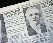 John D. Bonesetter Reese Baseball Doctor Therapy Death 1931 Old Nyc Newspaper