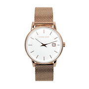Ethan Eliot Classic Womenand039s Watch Savannah 36mm Rose White Face Rose Band 5atm