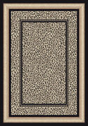 Milliken Ivory Contemporary Bordered Dots Area Rug Nature Print Zambia Opal