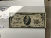 10 1899 National Bank Of Chicago Illinois. 14246. Series Of 1929. Paper Money.