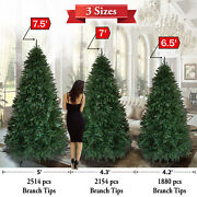 5 Size Artificial Christmas Tree 5/6/7/7.5ft Tree W/ Metal Stand Fir Pine Spruce
