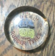 Antique Paperweight Early 1900and039s The Ideal Patent Rubber Tyres