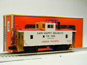 Lionel O Gauge Union Pacific Safety Ca-4 Caboose 3830 Crew Lite Up 1926492 New