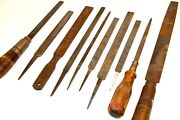 Antique Rasp Lot Woodworking Gunsmith Knife Making Tools Lot Of 10 Various Sizes