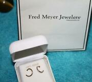 Fred Meyer Jewelers 14k Gold Hoop Earrings 12mm Continuous Hoops New