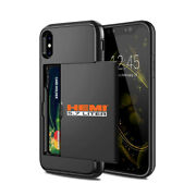 Hemi 5.7 Liter Black Shockproof With Card Holder Cell Phone Case For Iphone X