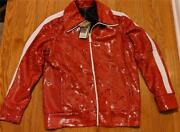 3995 Mens Authentic Sequined Bomber Jacket Cranberry Red Us Xl