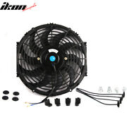 Universal 12 In Pull Push Electric Radiator Engine Cooling Fan W/ Mount Kit