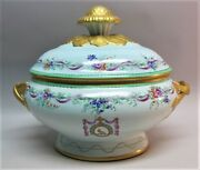 Fine Mottahedeh Armorial Hand-painted Tureen English Lowestoft Design C. 1960s